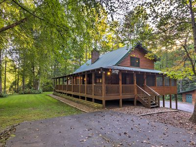 Photo for NEW! Lower Lodge on 80 Acres 45 Min. to Asheville!