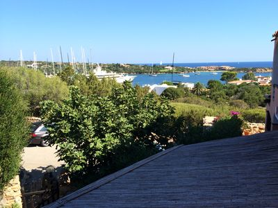 Photo for Sea view apartment with swimming pool Porto Cervo center