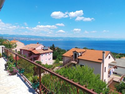 Photo for Holiday apartment with gorgeous sea view