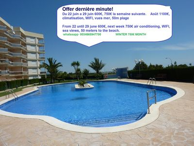 Photo for SUPERB SEA VIEW APARTMENT, WIFI, AIR CONDITIONING, 50 METERS BEACH