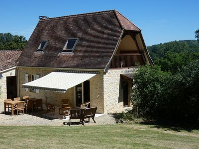 Photo for Stone house with pool 200 meters from a small village. Cul de sac.
