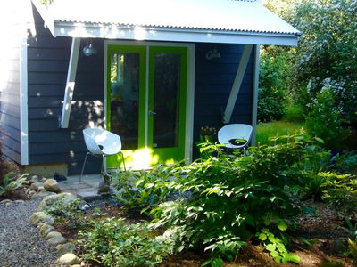 Photo for Walk to Ferry, Walk in town!  Garden studio with hot tub!