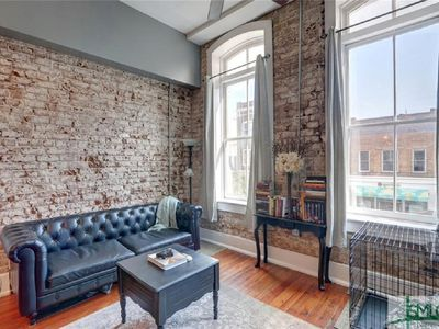 Photo for Historic Loft in Shopping Heart of Downtown Savannah