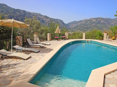 Photo for Wonderful villa with gorgeous pool and gardens in Fornalutx. Free wifi.