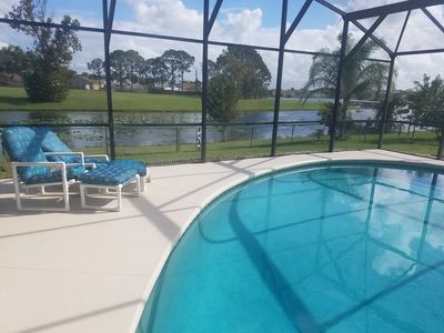 Photo for 3 BR/2 Bath Pool Home, Lake View near Disney