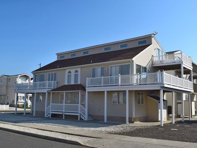 Photo for Ocean view deck.   Open area living, with wraparound deck.