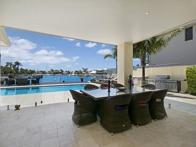 Photo for 3 bedroom deep waterfront home for a luxurious escape and holiday.