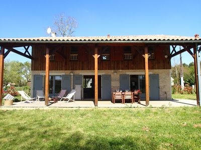 Photo for Charming renovated Landes house: La Bergerie