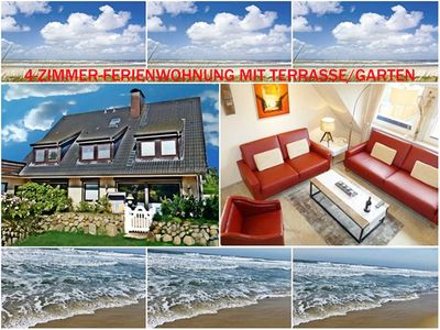 Photo for 4-ROOM APARTMENT WITH GARDEN / Westerland - 4-room apartment SYLTER DEICHWIESE with terrace