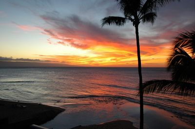 Beautiful sunset from our lanai