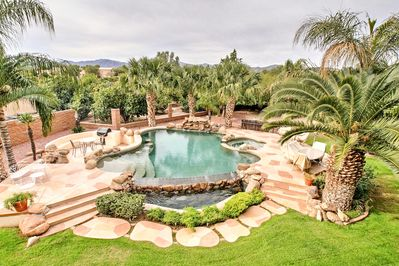 The pool area can be great for a swim or a party of up to a 100+ guests.