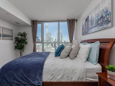 Photo for RATE DROP! - Clean and Sanitized - Premium 2-Bedroom with CN Tower & Lake Views