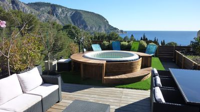 Photo for Close Monaco Large Apt  Roof Top Terrace Panoramic Views jacuzzi  5 Mn' Beach