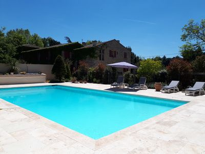 Photo for Bastide 18th century, 190 m2, large private pool, 8000 m2 wooded land