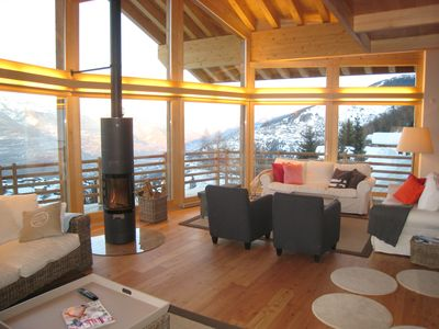 Photo for Spectacular chalet (5*) in Nendaz with unforgettable views,  490m from lift