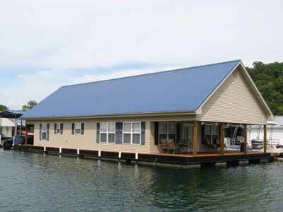 Photo for Stay ON the water in FellowSHIP Floats floating home!