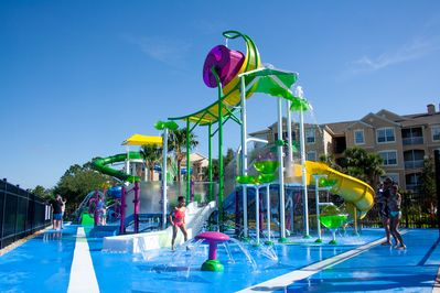 Splash pad and slides for the kids are now open!!