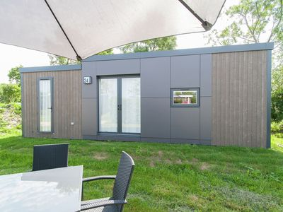 Photo for Modern chalet with 2 bathrooms, on small holiday park near the North Sea