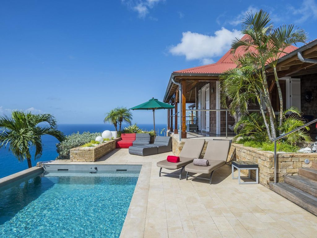 Ocean and Harbour Views, Infinity Edge Swimming Pool and Sundeck, Alfresco  Dining Area - St. Barthelemy