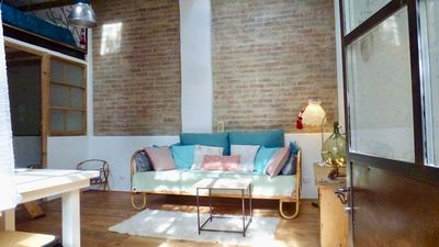 Photo for Charming little loft in ground garden, in the heart of Marseille.
