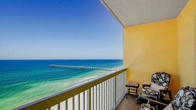 Photo for Amazing views from your 12th floor balcony, easy walk to Pier Park!