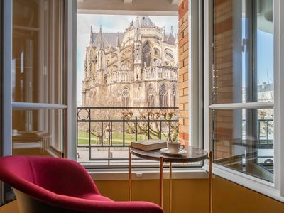 Photo for Exceptional apartment at the bedside of Reims Cathedral