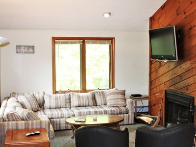 Photo for Mt. Snow Chalet with Hot Tub, Fireplace, Wifi  3 Br. 2 Bath. Sleeps 6