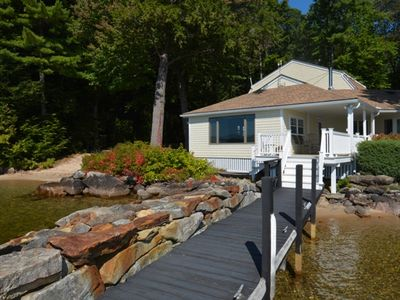 Photo for Views, sandy beach and southwest exposure!!!  Wolfeboro Neck - Close to town #575