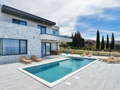 Photo for Lovely Villa Morena, in Dalmatia, with a Pool
