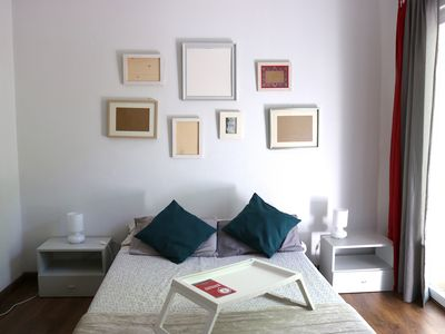 Photo for Large double room in a shared flat with two bathrooms and balconies facing the street