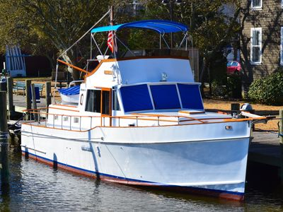 Photo for THE STARRY BANNER!   Classic yacht docked in historic downtown Manteo Marina