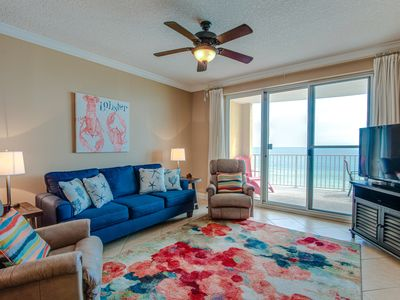 Photo for Enjoy immaculate views from this SANITIZED 6th floor condo at Twin Palms!