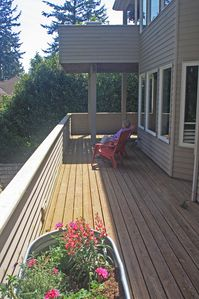 The private deck for the second floor