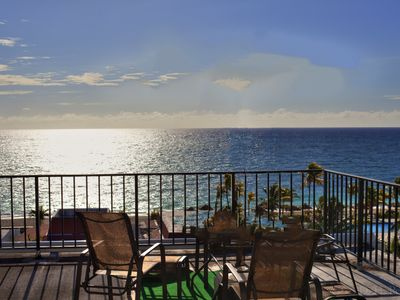 Photo for Near Port Lucaya 2 Attached Top Floor Studios w/ 2 Bed Oceanfront Bahama Views!