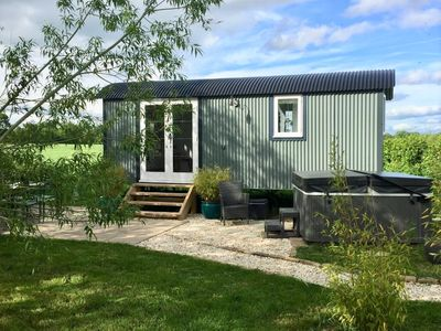 Photo for Stunning Shepherds Hut with Hot Tub in beautiful rural Cheshire near Nantwich