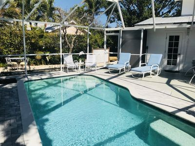 Historic 1911 Cottage with Pool, 2 Blocks from Orange Sunsets on Beach  and Town