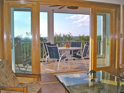 Living area opens to Screen Porch