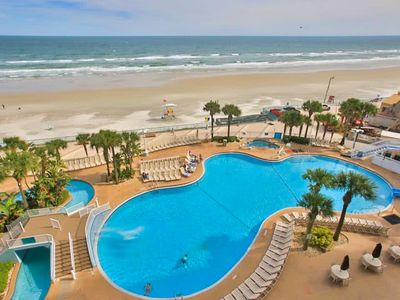 Photo for Condo w/ pools, hot tubs, mini-golf, & gym - snowbirds welcome!