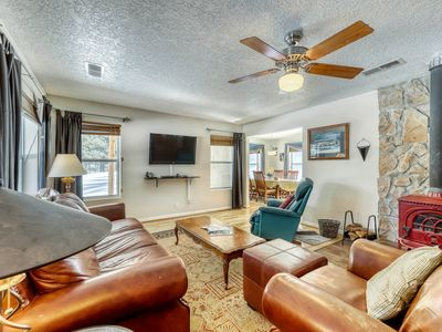 Photo for Cute home just south of the golf course w/ WiFi and wood burning fireplace!
