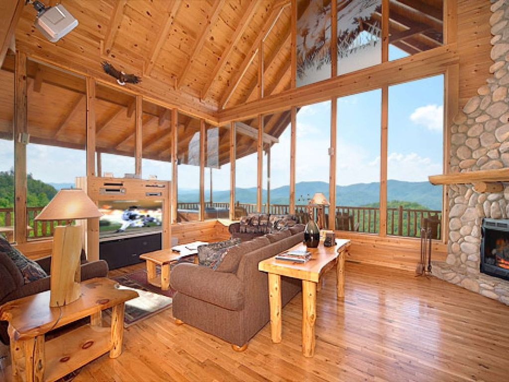 mountain indoor beauty the cabin forge tn and luxury pool smoky in cabins gatlinburg rentals pigeon mountains