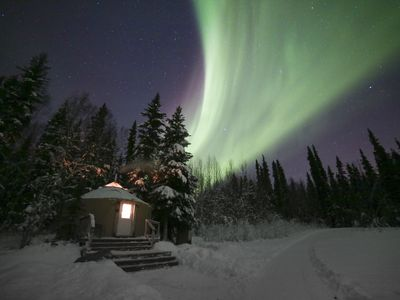 Photo for Charming Alaskan Yurt on 5 acres between Fairbanks and Chena Hot Springs