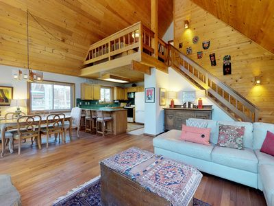 Photo for NEW LISTING! Comfortable cabin w/shared pool, hot tub, tennis & more