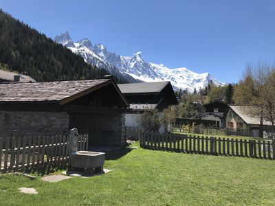Photo for Nice 2 rooms for 2 to 4 people in quiet hamlet with superb view on Mont-Blanc