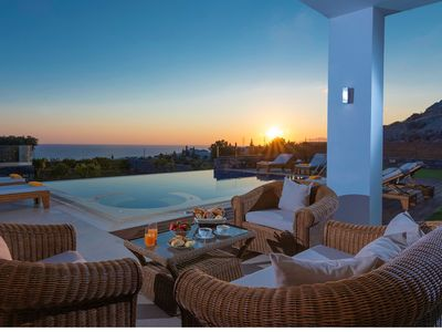 Photo for IRIDA VILLA, Luxury With Private Heated Pool, Incredible View, Next to the sea