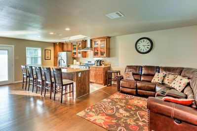 This getaway boasts 1,480 square feet of living space with room for 7.