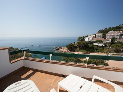 "Photo for Apartment right near the ""Playa Cala Salionç"" in Tossa de Mar with Lift, Washing machine, Terrace (88779)"