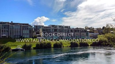 Photo for Riverfront apartment, free wifi, central location, free kayaks and swimming pool