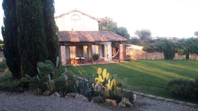 Photo for Apartment with garden in Maremma 5 minutes from the sea of Capalbio (Tuscany).