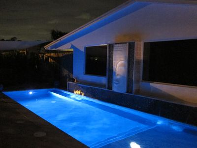Photo for Large 2 BR Villa- Stroll to Ave & Beaches- Exotic Salt & Waterfall Pool