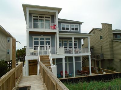 Photo for E1 88, Excellent ocean front home with pool and elevator for those special memories at the beach